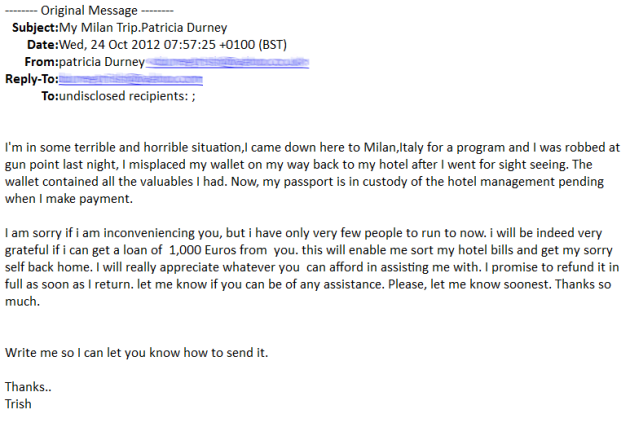 Nigerian Prince Email Example