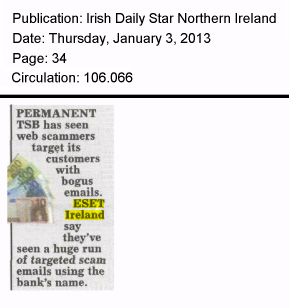 Irish Daily Star NI 03.01.2013