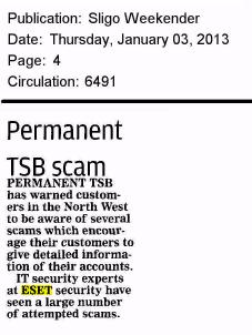 Sligo Weekender 03.01.2013