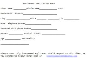 Sample fake application.