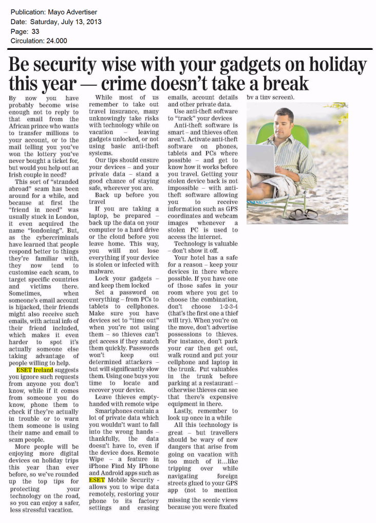Mayo Advertiser 13.07.2013