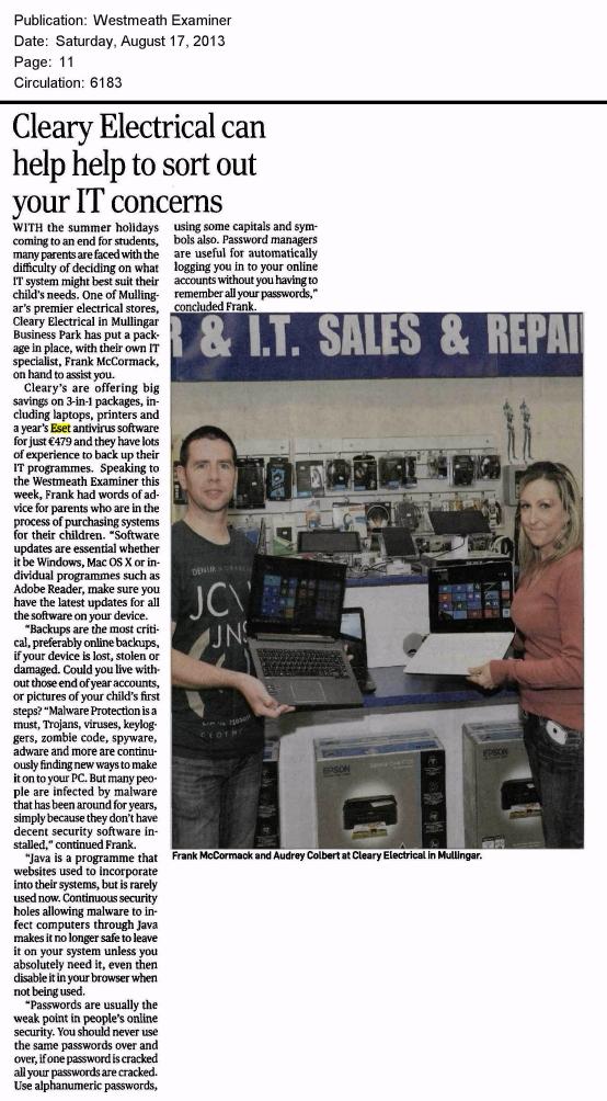 Westmeath Examiner 17.08.2013