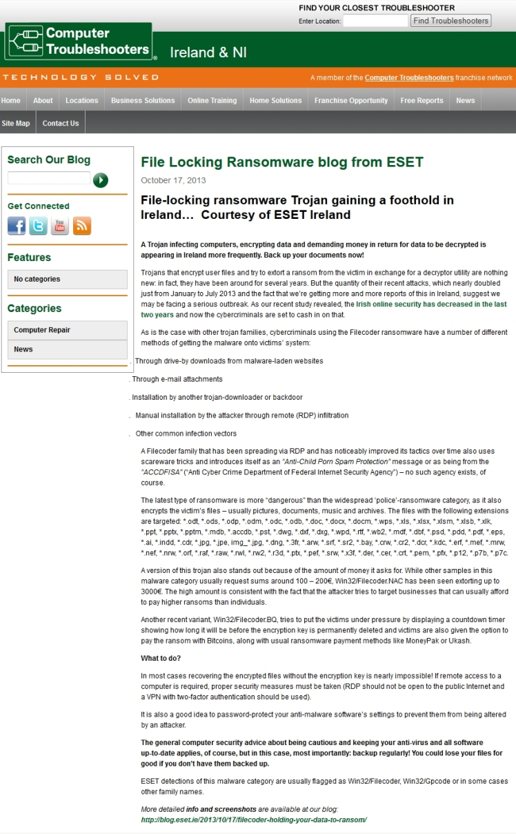Computer Troubleshooters 17.10.2013