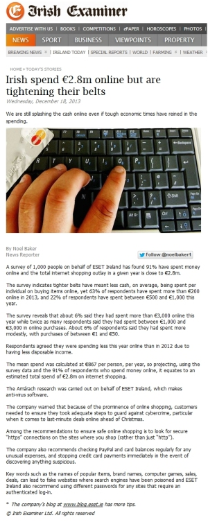 Irish Examiner 18.12.2013