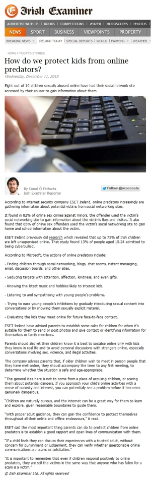 Irish Examiner online 11.12.2013