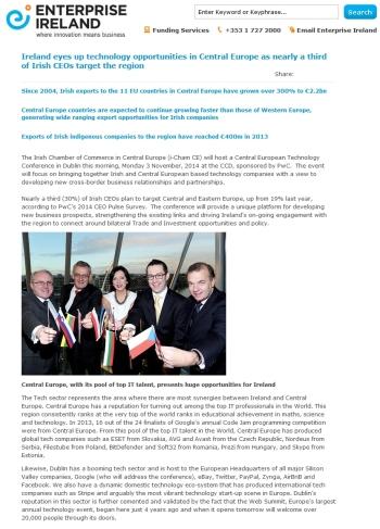 Enterprise Ireland 03.11.2014