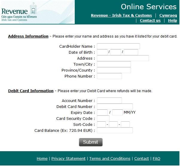 Irish Revenue Contact Number
