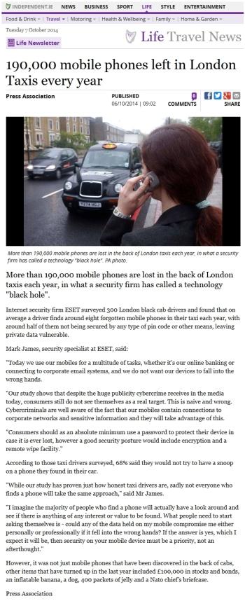 Independent.ie 07.10.2014