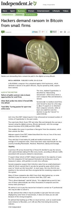 Independent.ie 18.04.2014