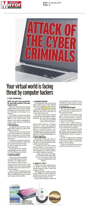Irish Daily Mirror 14.01.2014