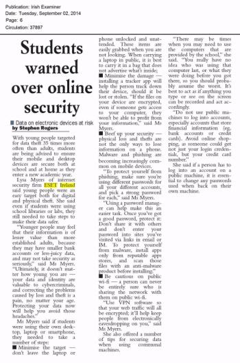 Irish Examiner 02.09.2014