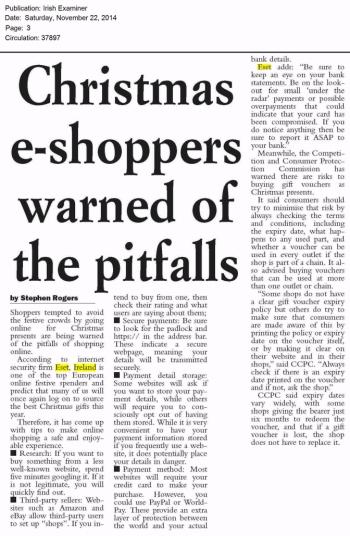 Irish Examiner 22.11.2014