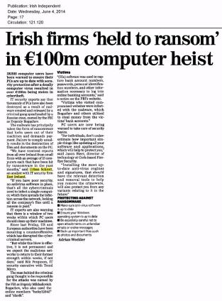 Irish Independent 04.06.2014