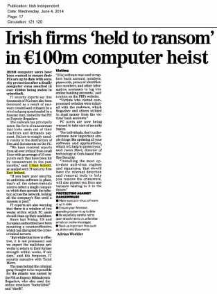 Irish Independent 04.06.2014