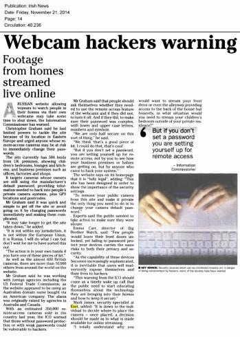 Irish News 21.11.2014