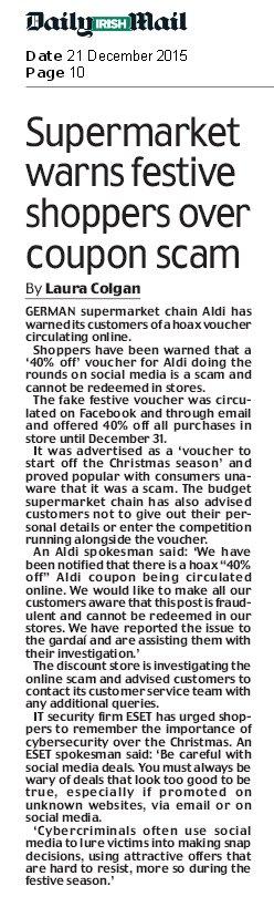 Irisah Daily Mail 21.12.2015