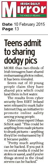 Irish Daily Mirror 10.02.2015