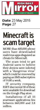 Irish Daily Mirror 23.05.2015