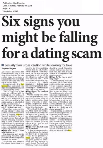 Irish Examiner 14.02.2015