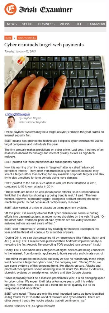Irish Examiner online 06.01.2014