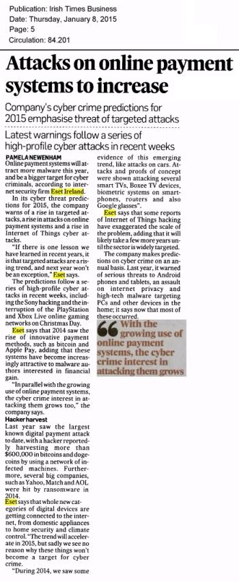 Irish Times Business 08.01.2014