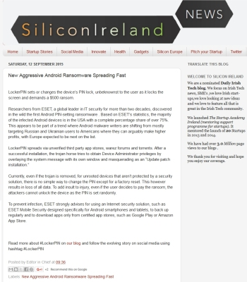 SiliconIreland news 12.09.2015