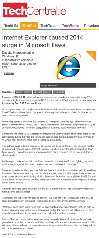 TechCentral.ie 09.01.2014