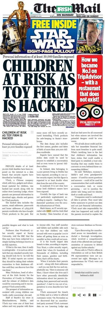 The Irish Mail 30.11.2015