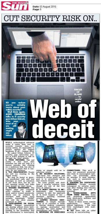 The Irish Sun 03.08.2015
