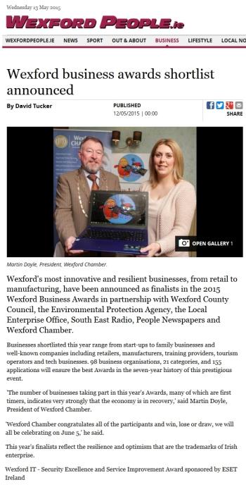 Wexford People.ie 12.05.2015