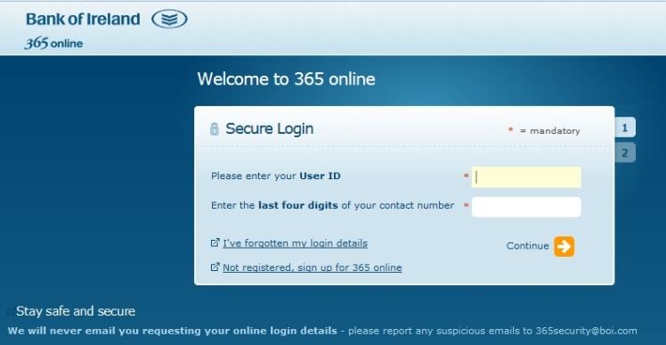 login banking 365