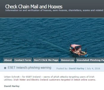 Check Chain Mail and Hoaxes 04.07.2016