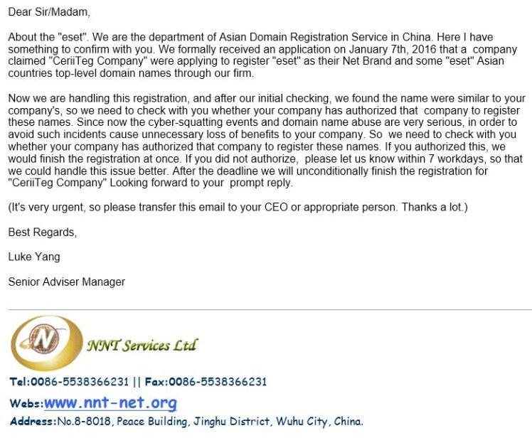 Asian cybercriminals trying to scam ESET Ireland too – ESET Ireland