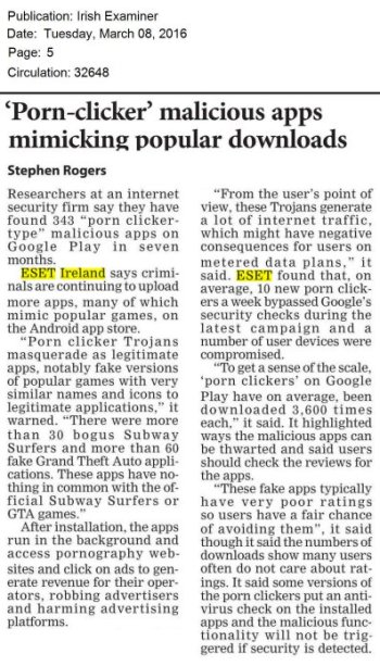 Irish Examiner 08.03.2016