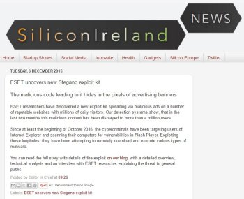 Silicon Ireland News 06.12.2016