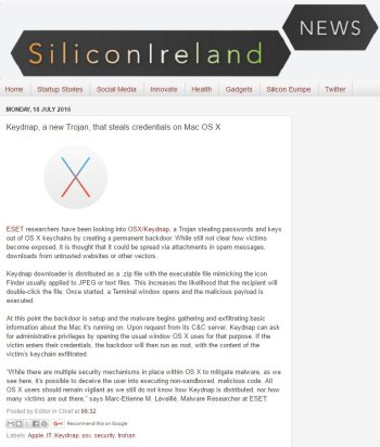 Silicon Ireland News 18.07.2016