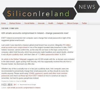 SiliconIreland News 31.05.2016