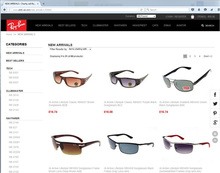 f97b0ad1a2 Buying Ray-Bans  Don t fall for this Facebook scam – ESET Ireland