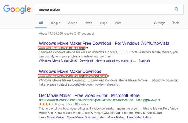 windows-movie-maker-scam-serp